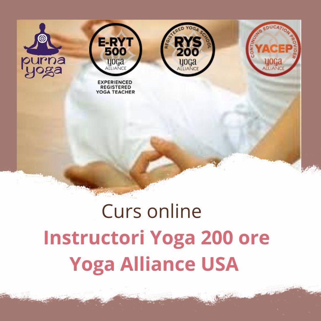 Curs de instructori yoga TTC200 - Acreditare Yoga Alliance USA
